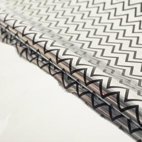 Пленка голографическая 'Зигзаги', серебристый, 50 х 70 см Ош