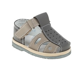 Туфли летние  арт. 1512 (серый) (р. 16,5) (10 см)