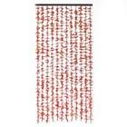 Занавеска декор Листики жёлтый 90 x 175 см (12 нитей)