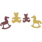"""Мининабор крашеный """"Детские игрушки"""" (4 шт) 2,5х3,5 см, фанера 3 мм"""