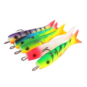 Поролоновая рыбка оснащённая Н2, 8см, кр. №2 (набор 5 шт)