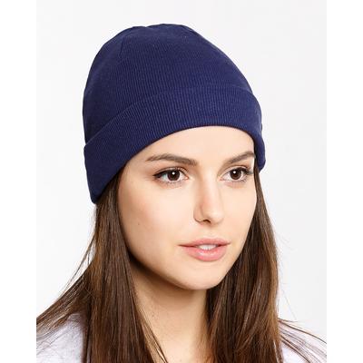 Шапка женская 339-1 (221001) цвет тёмно-синий, р-р 56