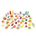 """Игровой набор еды """"Вкусное удовольствие"""", 65 элементов"""