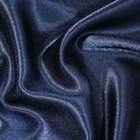 Ткань плательная-Креп сатин, ширина 150 см, цвет тёмно-синий, 210 г/п.м.