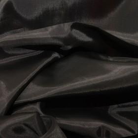 Ткань подкладочная, ширина 150 см. цвет чёрный Ош