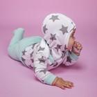 Шапочка-шлем (2 шт.) детская, рост 80 см, цвет бирюзовый+звездочки 90012