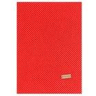 Ткань на клеевой основе «Красная в белый горошек», 21 х 30 см.