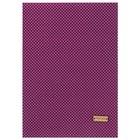 Ткань на клеевой основе «Фиолетовая в горошек», 21 х 30 см.
