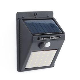 Светильник уличный с датчиком движения, солнечная батарея, 25 LED БЕЛЫЙ