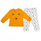 Пижама детская, рост 86 см, цвет жёлтый/белый