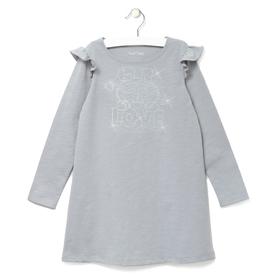 """Платье детское KAFTAN """"LOVE"""", рост 92-98 (28), 1,5-2 года, цвет серый"""