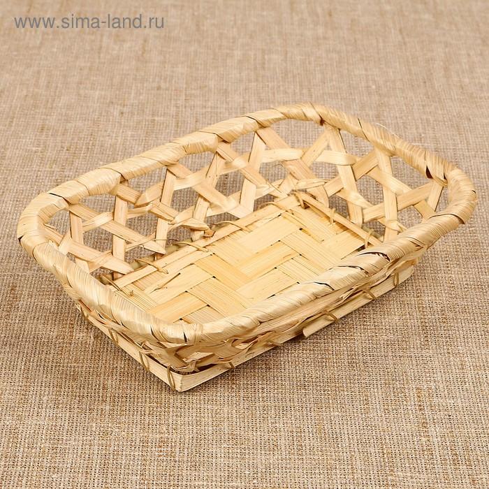 Фруктовница прямоугольная, редкое плетение, МИКС