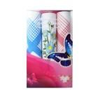 Платок носовой женский, 28 х 28 см, 3 шт, голубой, белый, розовый, хлопок