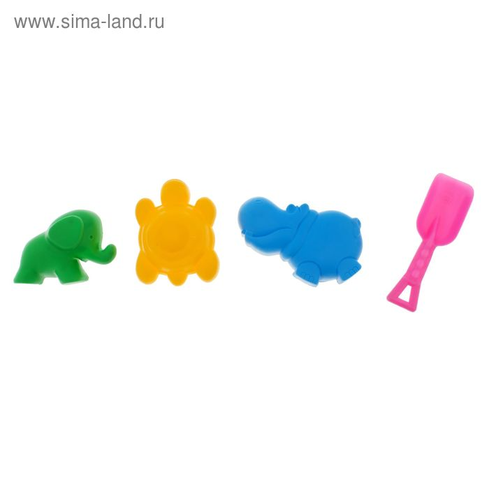 "Набор формочек ""Африка"", 4 предмета цвета МИКС"