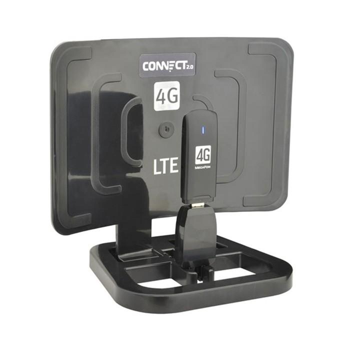 """Антенна усилитель интернет-сигнала """"CONNECT"""" 2.0 Black для USB модемов GSM,3G,WiMax,WiFi,BT   337742"""