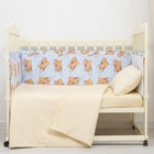 Бортики в кроватку, 120х40х35 см, 60х40х35 см (по 2 шт), принт мишка гол, хл100% бязь