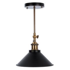 Светильник потолочный 'Грегори' черный 1x40W E27 22x22x15 см Ош
