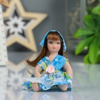 """Кукла коллекционная керамика """"Малышка в платье с белым передничком"""" 9 см МИКС"""