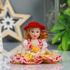 """Кукла коллекционная керамика """"Малышка в шляпке и цветном платье"""" 10,5 см МИКС"""