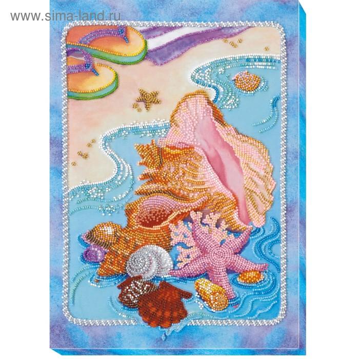 """Набор для вышивки бисером на натуральном художественном холсте """"Лазурный берег"""""""