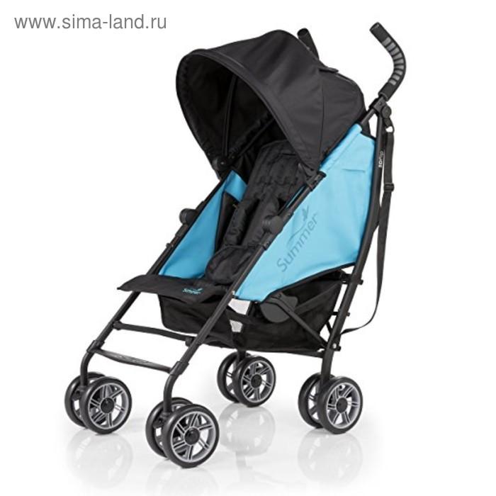 Детская  прогулочная коляска 3D Flip, чёрный/голубой