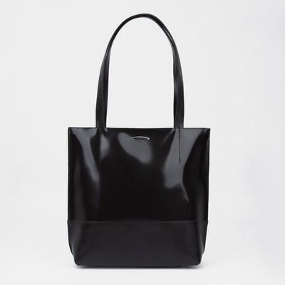 Сумка женская на молнии, 1 отдел, наружный карман, цвет коричневый гладкий шик/сафьян шик