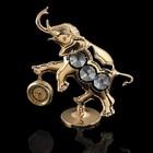 Часы «Слон», 10,5 × 9,5 × 3,5 см, с кристаллами Сваровски