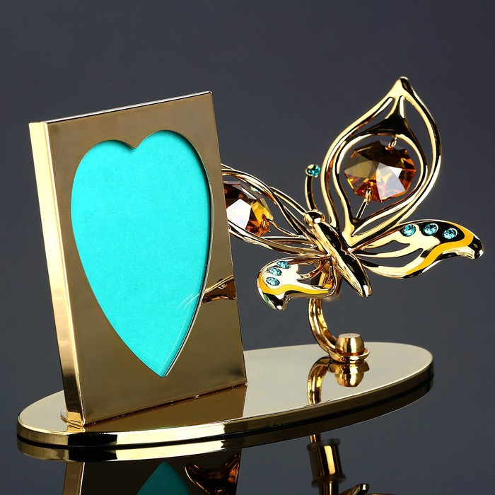 Фоторамка «Бабочка» с кристаллами Сваровски, 4.5 × 10.5 × 6.5 см