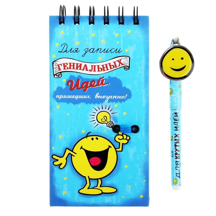"""Блокнот + ручка """"Для записи гениальных идей"""""""