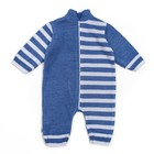 Комбинезон детский, рост 62-68, цвет голубой, принт полоска 1129_М