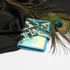 Футляр д/карт TF 1211-100, 8*2*10,5, вертик, 1ряд, 24лист, с хлястиком, змея бирюзовый