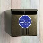 Ящик почтовый, горизонтальный, без замка (с петлёй), квадратный, цвет бронзовый