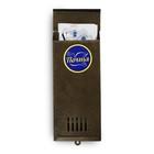 Ящик почтовый, вертикальный, без замка (с петлёй), узкий, цвет бронзовый