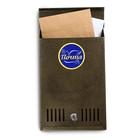 Ящик почтовый, вертикальный, с замком, цвет бронзовый