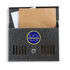 Ящик почтовый «Горизонталь», горизонтальный, с замком, серебристый