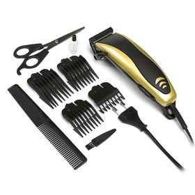 Машинка для стрижки волос Luazon модель LST-5, 4 уровня стрижки, 15 Вт, золото, 220 V Ош