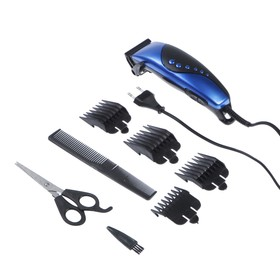 Машинка для стрижки волос Luazon модель LST-10, 4 уровня стрижки, 15 Вт, синий, 220 V Ош