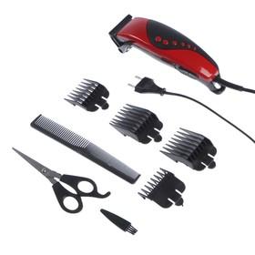 Машинка для стрижки волос Luazon модель LST-10, 4 уровня стрижки, 15 Вт, красный, 220 V Ош