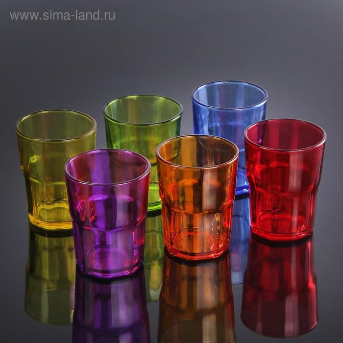 "Набор стаканов 320 мл ""Закат"", 6 шт, цвета МИКС"