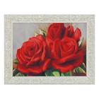 """Гобеленовая картина """"Розы красные"""" 34*44 см"""