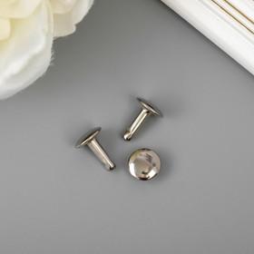 Винт металлический для крепления альбома серебро 1,2х1х1 см