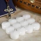 Кассета свечей парафиновых для могильных подсвечников, упаковка 8 штук