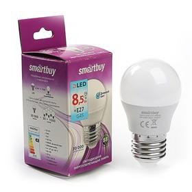 Лампа cветодиодная диммируемая Smartbuy, G45, Е27, 8,5 Вт, 4000 К, холодный белый Ош