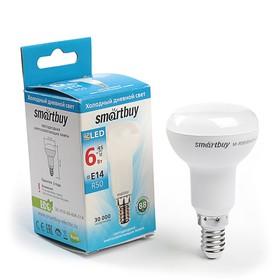 Лампа cветодиодная Smartbuy, R50, E14, 6 Вт, 6000 К Ош