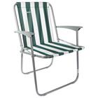 Кресло складное, цвет зелено-белый КС4