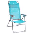 Кресло-шезлонг складное 2, сетка, размер 750x590x1090мм, бирюзовый К2