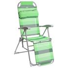 Кресло-шезлонг, размер 780x590x1160 мм, цвет зеленый  К3