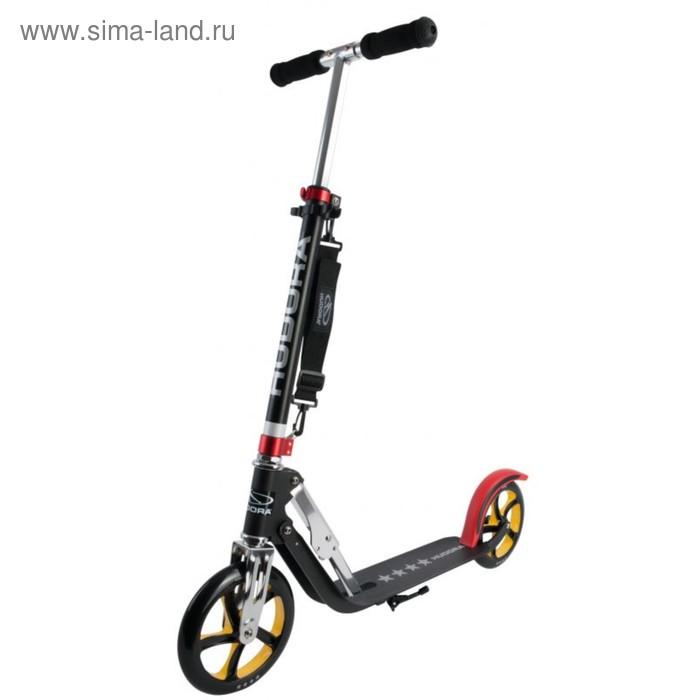 Самокат HUDORA Big Wheel RX-Pro 205, цвет черно-красно-золотой
