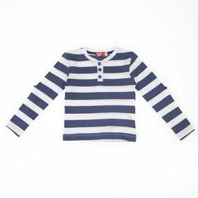 Джемпер для мальчика,рост 110 (60) см, цвет тёмно-синий/белый 6235