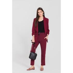 Костюм женский (пиджак, брюки) 20 цвет бордовый, р-р 46